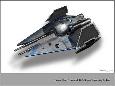 Sienar Fleet Systems Eta-5 interceptor