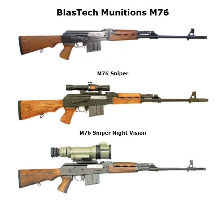 BlasTech Munitions M76 & Sniper & Night Vision Models
