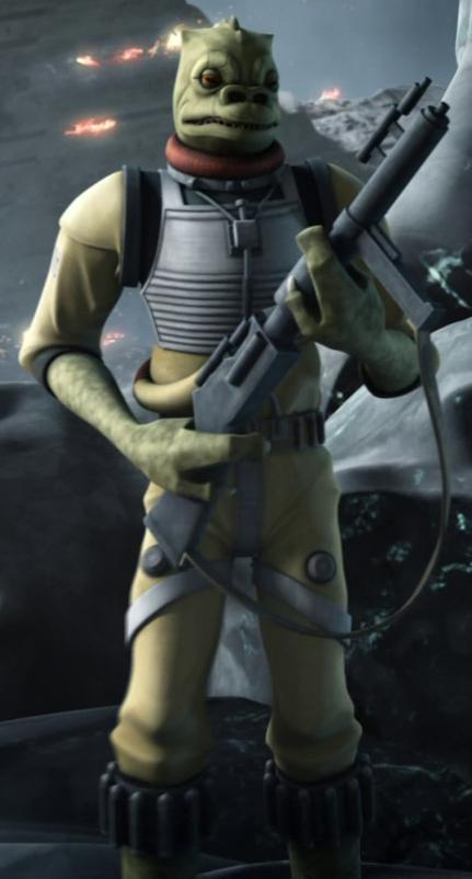 Bossk (Trandoshan Bounty Hunter as of The Clone Wars)