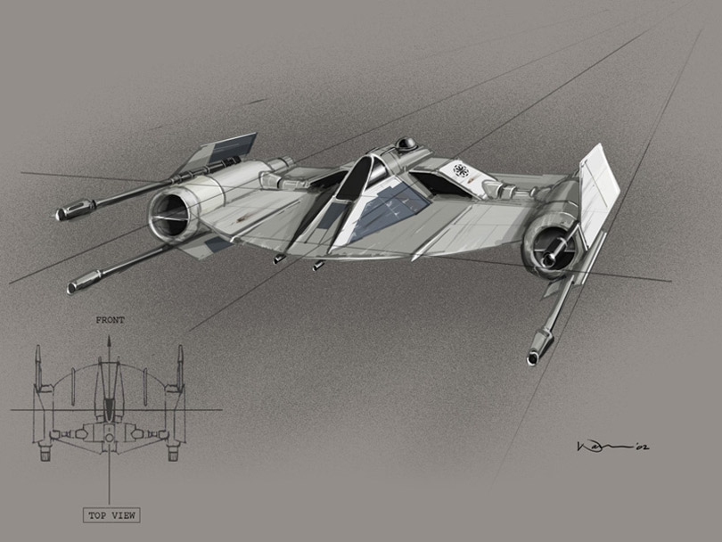 Kuat Systems Engineering Xi-4 Helius Interceptor (CloneFighter)