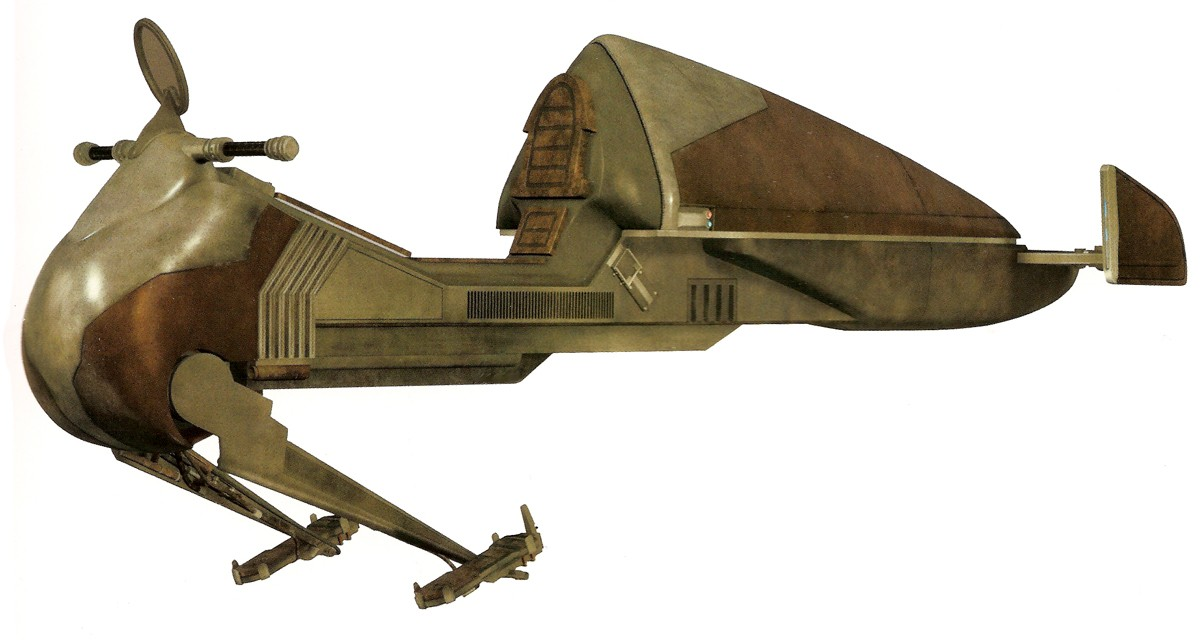 Huppla Pasa Tisc Shipwrights Collective Flitknot speeder bike