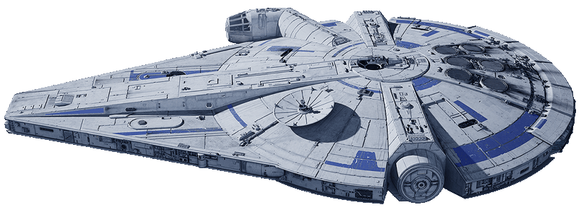 The Millennium Falcon (as of Solo: A Star Wars Story)