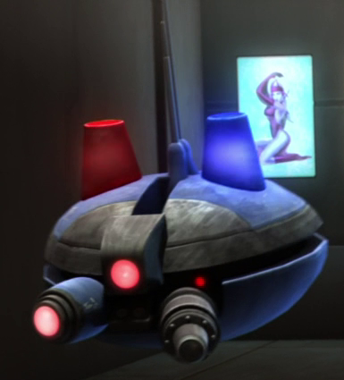 Coruscant Police probe droid