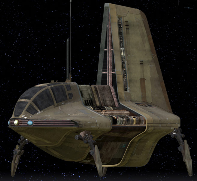 Haor Chall Engineering Sheathipede-class transport shuttle (armed variant)
